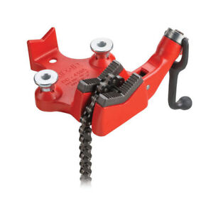 Ridgid 40195 4 In Top Screw Bench Chain Vise With Cast Iron Base New
