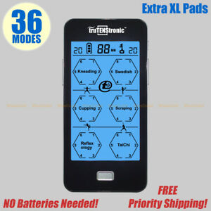 Trutens Tens Ems Unit Pro Rechargeable Battery Muscle Stimulator 36 Modes Xl
