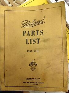 Packard Parts Manual 1935 To 1941 Series 120 Abc 138 1601 1701 1801 1901
