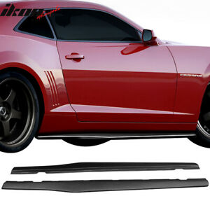Fits 10 15 Chevy Camaro Ikon Style Side Skirts Body Kit Polypropylene Pp
