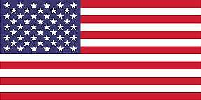American Country Flag Sticker Decal 5yr Vinyl State Flag