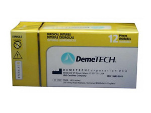 Demetech Dental Sutures Plain Catgut Sutures 8 Different Sizes Made In Usa 12 pk