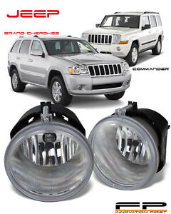 2005 2010 Jeep Grand Cherokee 2006 2010 Commander Replacement Fog Light Pair