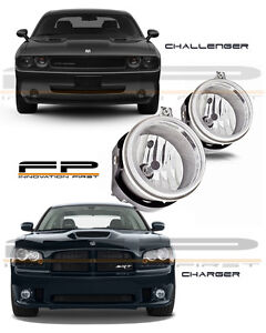 2006 2009 Dodge Charger 2008 2010 Challenger Replacement Fog Lights Clear Pair