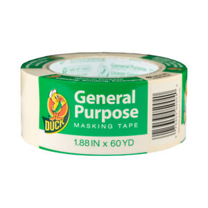 Duck General Use Masking Tape 1 88 X 60 Yard Pack Of 12