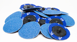 1000 Pack 2 Roloc Zirc Quick Change Sanding Disc 120 Grit