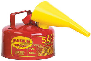 Eagle Safety Gas Can 1 Gal Meets Osha Nfpa Code 30 Requirements Galv Steel