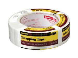 Scotch Strapping Tape Solventless Adhesive 1 1 2 In W X 60 Yd Case Of 12