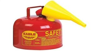 Eagle Safety Gas Can 2 Gal Meets Osha Nfpa Code 30 Requirements Galv Steel