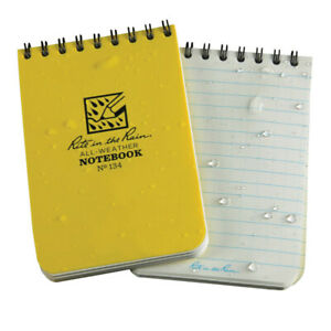 Rite In The Rain Notebook Spiral 3 In X 4 1 2 In Yellow Pack Of 12