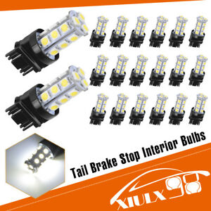 20x White 6000k 3157 3156 5050 18 Smd Led Turn Signal Backup Reverse Light Bulbs
