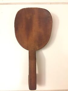 Antique 1800 S Primitive Wooden Butter Working Paddle Scoop Wood