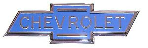 1936 1937 1938 Hood Side Emblem Blue Chevrolet Bowtie Chevy Pickup Truck Each