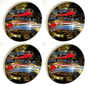 1941 1942 1943 1944 1945 1946 Hub Caps 4 Stainless Steel Chevrolet Chevy Truck