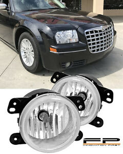 2005 2010 Chrysler 300 Touring Fog Lights Clear Lens 3 5l Front Bumper Lamp Pair