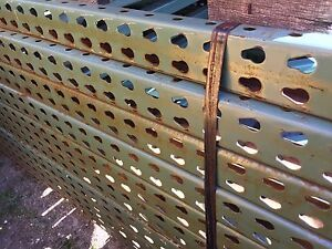 Pallet Rack Upright 48 X 144 Green Teardrop Style
