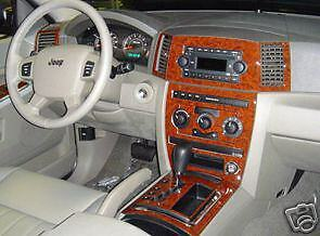 2005 2006 07 Interior Wood Dash Trim Kit For Jeep Grand Cherokee Laredo Limited