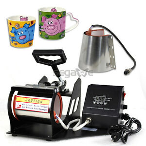 Used 2 Size Display Cup Coffee Mug Heat Press Transfer Sublimation Machine