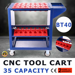 Cnc Toolscoot Tool Cart For 40 Taper Tool Holders Cat40 Bt40 Nmtb Trolley Steel