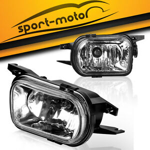 For 01 07 Mercedes Benz W203 C Class Clear Bumper Fog Lights Driving Lamps Pair