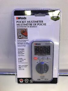 Southwire Woods Multimeter Pocket Digital Auto Ranging Electrical Testing Dmmw3