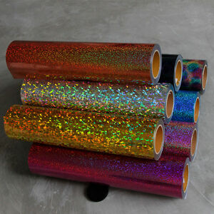 Holographic Heat Transfer Vinyl 20 Wide Easy Weed Film For T shirt 10 Colors