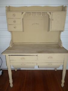 Vintage Antique Possum Belly Baker S Cabinet With Hutch