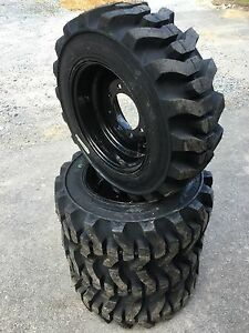 10 16 5 Galaxy Muddy Buddy Skid Steer Tires black Wheels rims For Bobcat 10x16 5