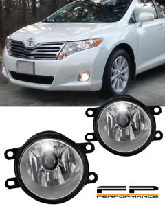 For 2009 2015 Toyota Venza Clear Replacement Fog Light Housing Assembly Pair