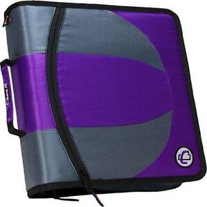 Case it Dual 2 in 1 Zipper D ring Binder 2 Sets Of 1 5 Rings With Pencil Pouch