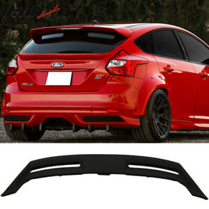 Fits 12 18 Ford Focus Hatchback St Oe Style Rear Roof Spoiler Wing Unpainted Abs