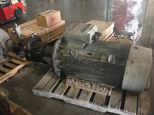 Siemens Motor W Pump 186 200kw 400v 690y 1490rpm 250hp 460v 1792pm Ip55 Used