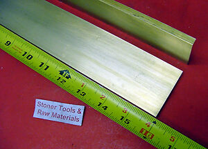 2 Pieces 1 4 X 2 C360 Brass Flat Bar 16 Long Solid 25 Plate Mill Stock H02