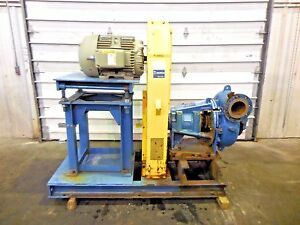 Rx 3609 Metso Mm200 Lhc d 8 X 6 Slurry Pump W 30hp Motor And Frame