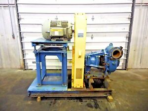 Rx 3610 Metso Mm200 Lhc d 8 X 6 Slurry Pump W 30hp Motor And Frame