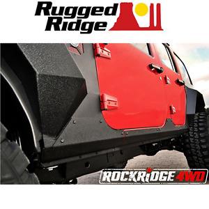 Rugged Ridge Steel Body Armor Cladding 07 17 Jeep Wrangler Jku 4 Door 11615 10
