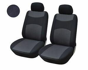 A160 Black Fabric 2 Front Bucket Car Seat Covers Compatible To Toyota Rav 4