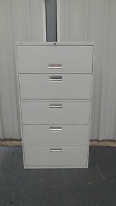 Hon Brigade 500 Series 5 Drawer Lateral File Cabinet