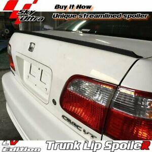 Painted Lv Rear Trunk Lip Spoiler Wing For Honda Civic 7 Us Coupe 2001 2005