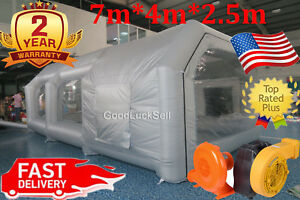 7 4 2 5m Portable Inflatable Giant Outdoor Tent Carworkstation Spray Paint Booth