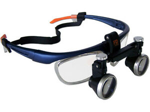 3 5x Dental Loupe Medical Surgical Binocular Loupes Magnifying Glass 550mm