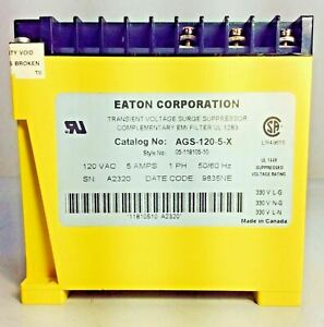 Eaton Ags 120 5 x Transient Voltage Surge Suppressor Aegis Noise Filter Tycor