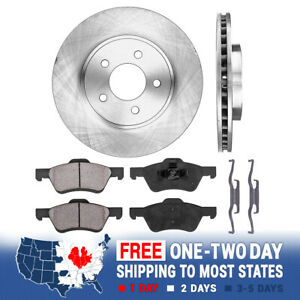 Front Rotors Ceramic Pads For 2005 2006 2007 2009 Mariner Ford Escape Tribute