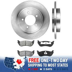 Rear Brake Rotors And Metallic Pads For 2002 2003 2004 2005 Explorer Mountaineer