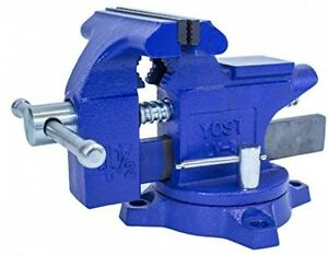 Yost Lv 4 Home Vise Bench Clamps New Swivel 1 Jaw Tool Vintage Clamp Tools Study