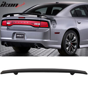 Fits 11 19 Dodge Charger Factory Style Trunk Spoiler Rear Wing Abs