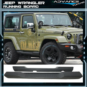For 07 17 Jeep Wrangler 2dr Oe Style Running Board Side Steps Nerf Bars Pair