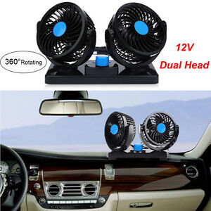 Dual Fan 12v 2 Gears 360 Rotating Car Boat Cooling Mini Air Conditioner Cooler