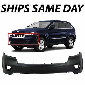 New Primered Front Bumper Cover Fascia For 2011 2013 Jeep Grand Cherokee 11 13