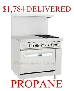 36 Inch 3 Foot 2 Burner Range With Oven And 24 Left Side Griddle Propane Gas